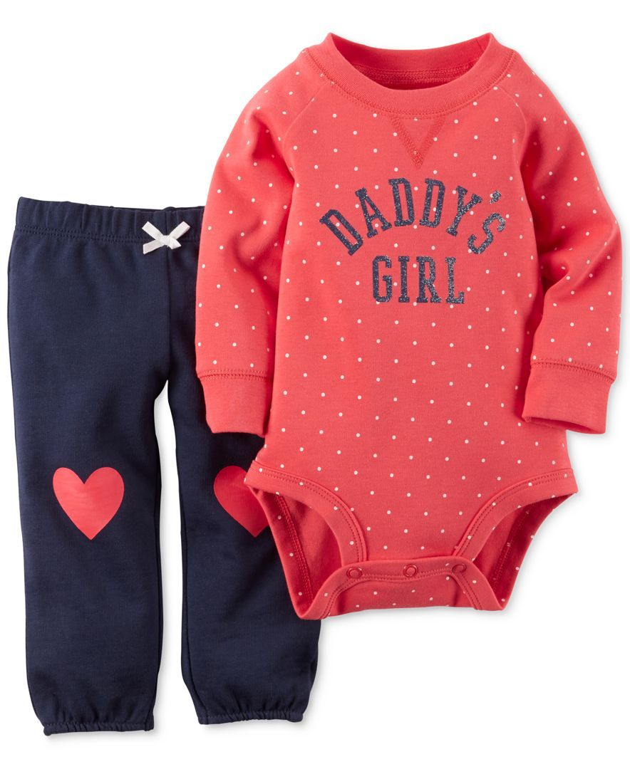 90c8949992a Carter s Baby Girls  Two-Piece Red Dot Bodysuit and Pants Set