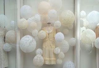 DIY lace balloons...backdrop...porch decor...?