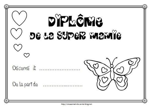 Grand Maman Diplome Bon Anniversaire Mamie Poeme Mamie Bonne Fetes Papa