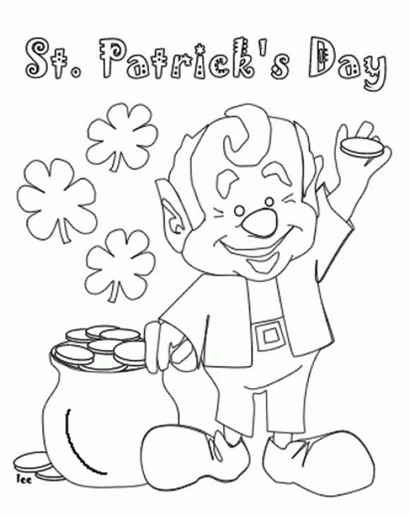 Contemporáneo Duende Colorear Páginas St Patricks Day Inspiración ...