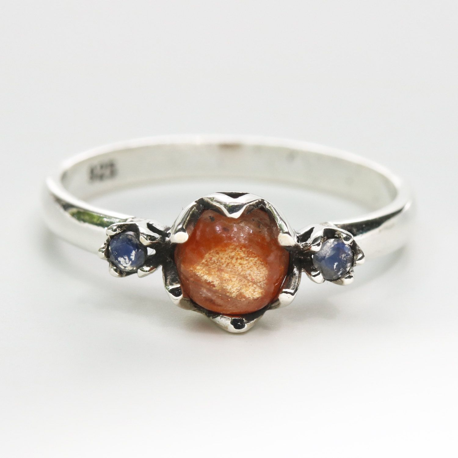 oregon silver in ring sterling inspired portland rings luxury engagement sunstone stone il fullxfull sun vintage wedding