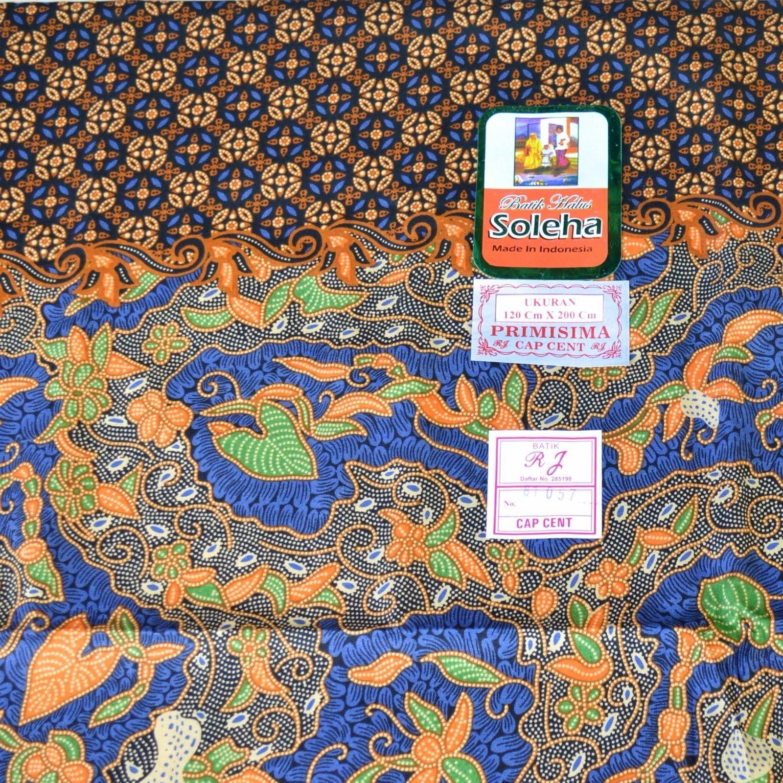 Batik Indonesia Flower Printing Sarong Cotton Fabric BP 29