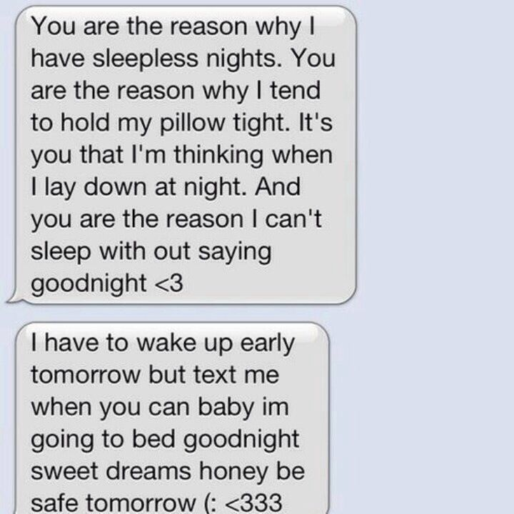 Cute goodnight texts for him to wake up to