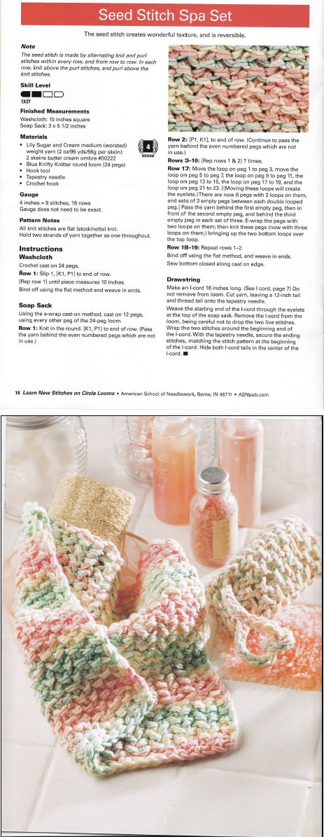 Learn New Stitches On Circle Looms By Anne Bipes Seed Stitch Spa