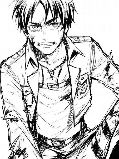 Eren Attack On Titan 進撃の巨人 Shingeki No Kyojin Ataka Titanov Snk Aot Anime Desenhos De Anime Ideias Para Desenho