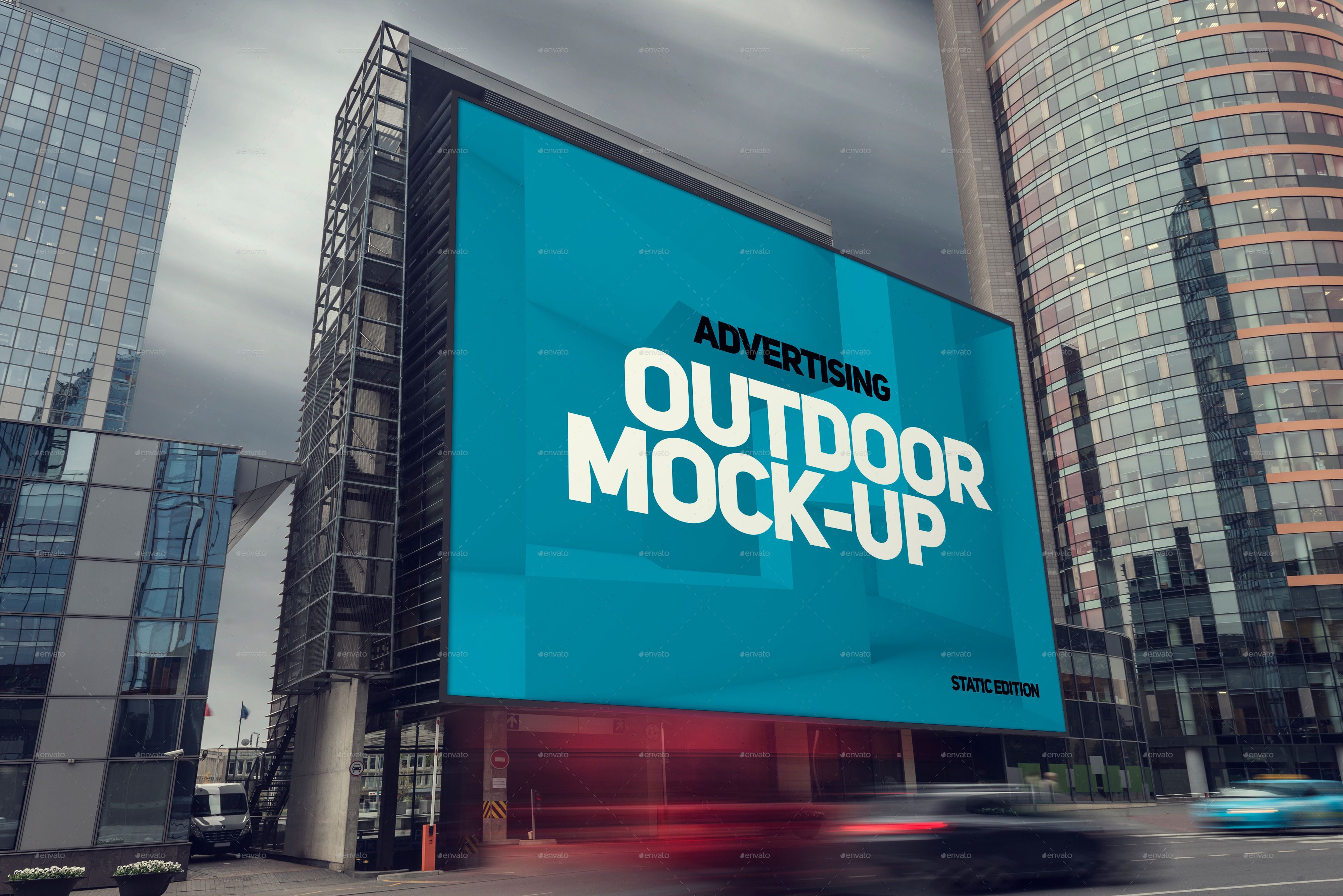 Animated Outdoor Advertising Mock-ups | Mockup, Advertising and ...