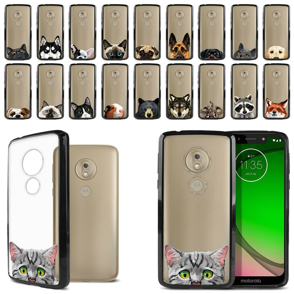 For Motorola Moto G7 Play 5 7 Animal Hybrid Hard Black Bumper Case Phone Cover Corgi Phone Case Corgi Phone Case Motorola Phone Samsung Galaxy Phone Covers