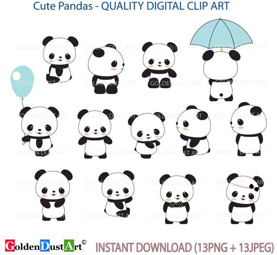 Lindo Panda Clip Art Panda Clip Art Panda Clipart Lindo Etsy Panda Lindo Pandas Dibujo Decoraciones De Panda