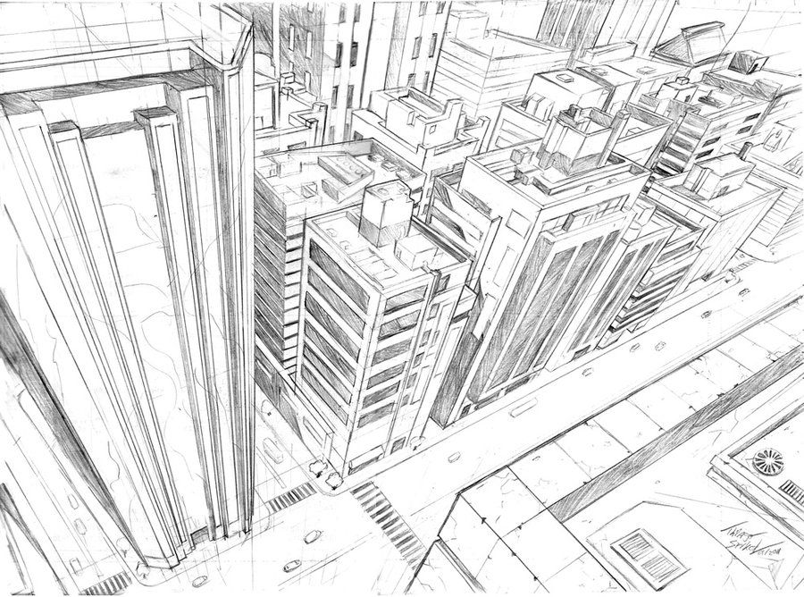 Perspective Training 3 By Thiagospyked On Deviantart Perspective Drawing Perspective Art City Drawing