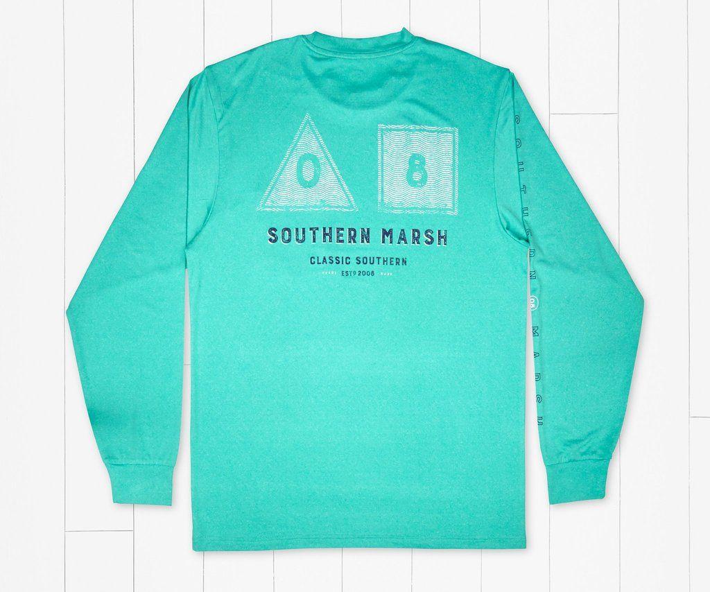Men/'s Long Sleeve SEAWASH™ Slub Polo Southern Marsh
