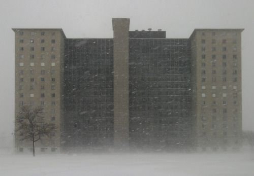 infiniteinterior: A Robert Taylor Homes Building in its Last Winter by metroblossom on Flickr.