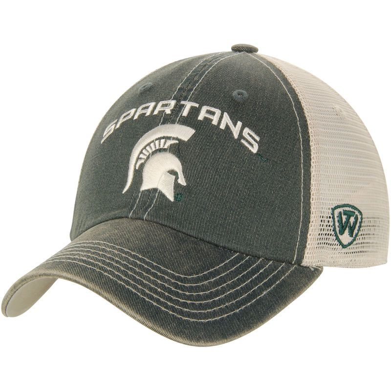 half off dd71a c44ed Michigan State Spartans Top of the World Roughage Realtree Trucker Mascot  Name Snapback Adjustable Hat - Green