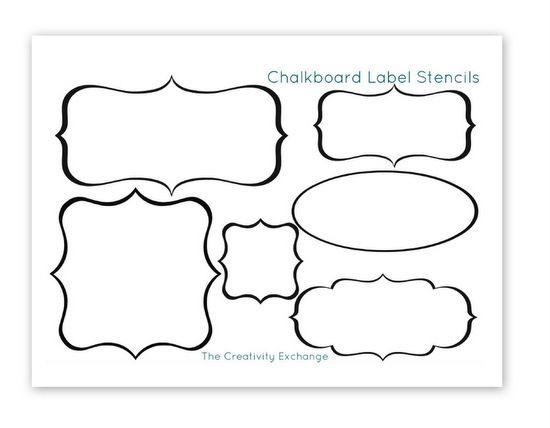 picture relating to Chalkboard Stencils Printable named Cost-free Printable Stencils toward Produce Vinyl Chalkboard Labels