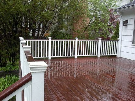 Gallery For White Painted Deck