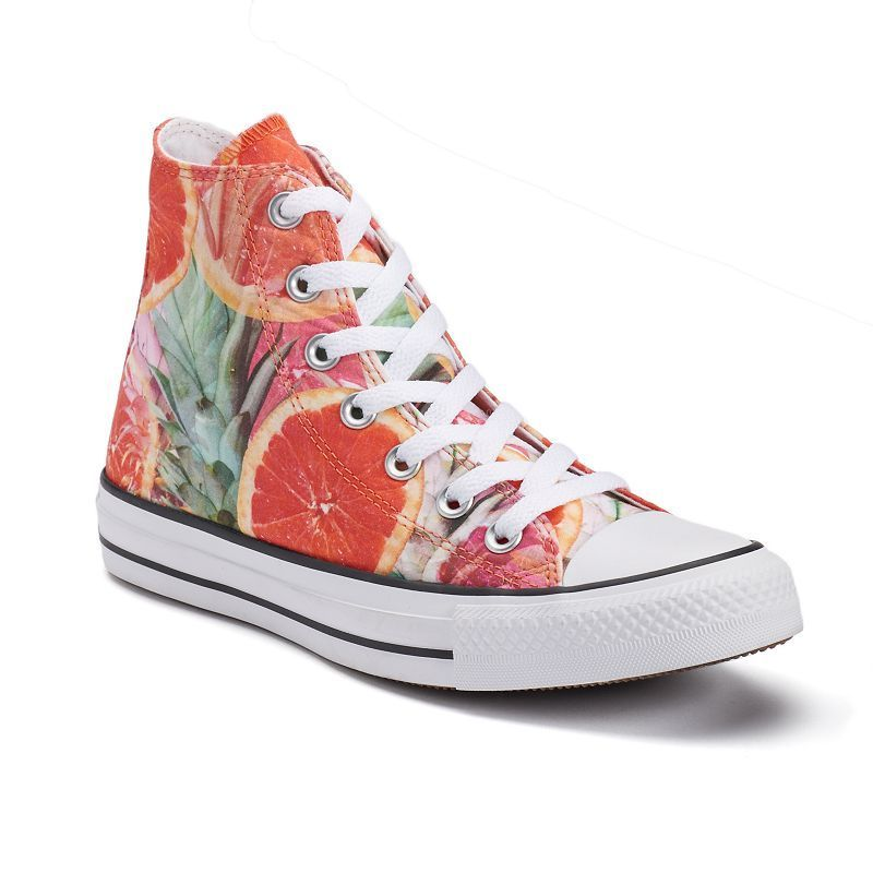 8d4fd3b0ae66 Women s Converse Chuck Taylor All Star Fruit Print High-Top Sneakers ...