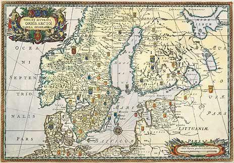 1696. Nova Et Accurata ORBIS ARCTOI tabula geographica