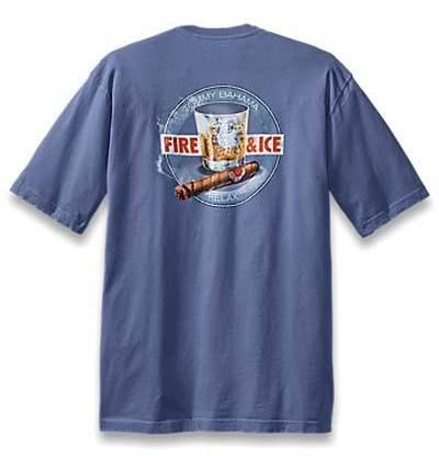 Tommy Bahama Men 39 S T Shirt Fire Ice Key West Blue Sz