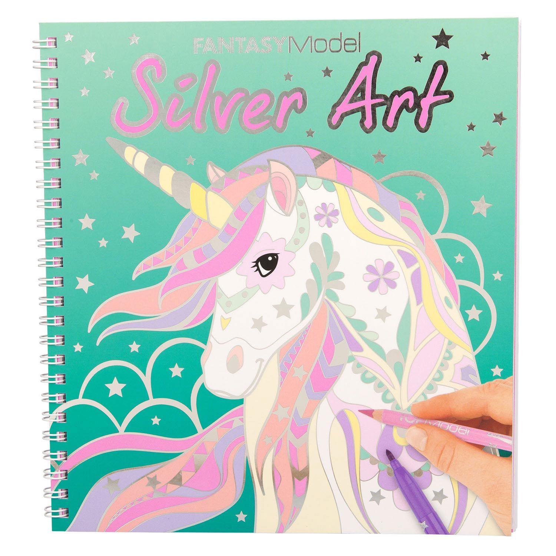 Topmodel Fantasy Model Kleurboek Silver Art Kleurboek Meiden Tekeningen Voor Kinderen