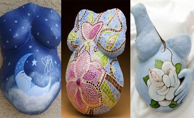 Ejemplos De Pinturas Moldes De Yeso Panza De Embarazada Panzas De Embarazadas Pintadas
