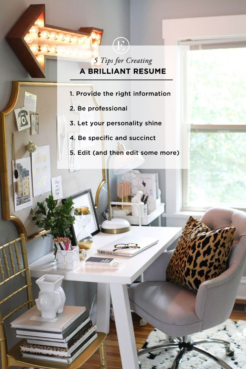 5 Tips for Creating a Brilliant Resume | Pinterest | Perfect resume ...