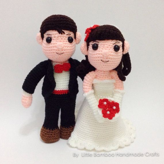 PATTERN The Wedding Couple Bride And by LittleBambooHandmade