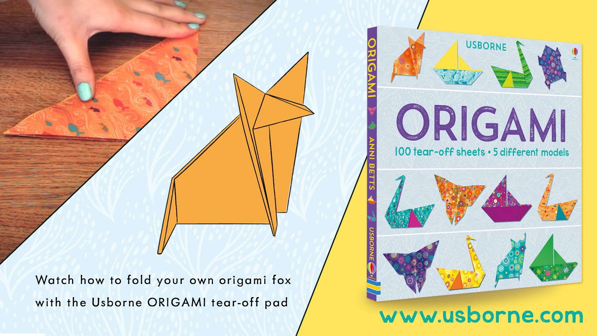 Learn how to make an origami fox using the usborne origami tear learn how to make an origami fox using the usborne origami tear off pad jeuxipadfo Image collections