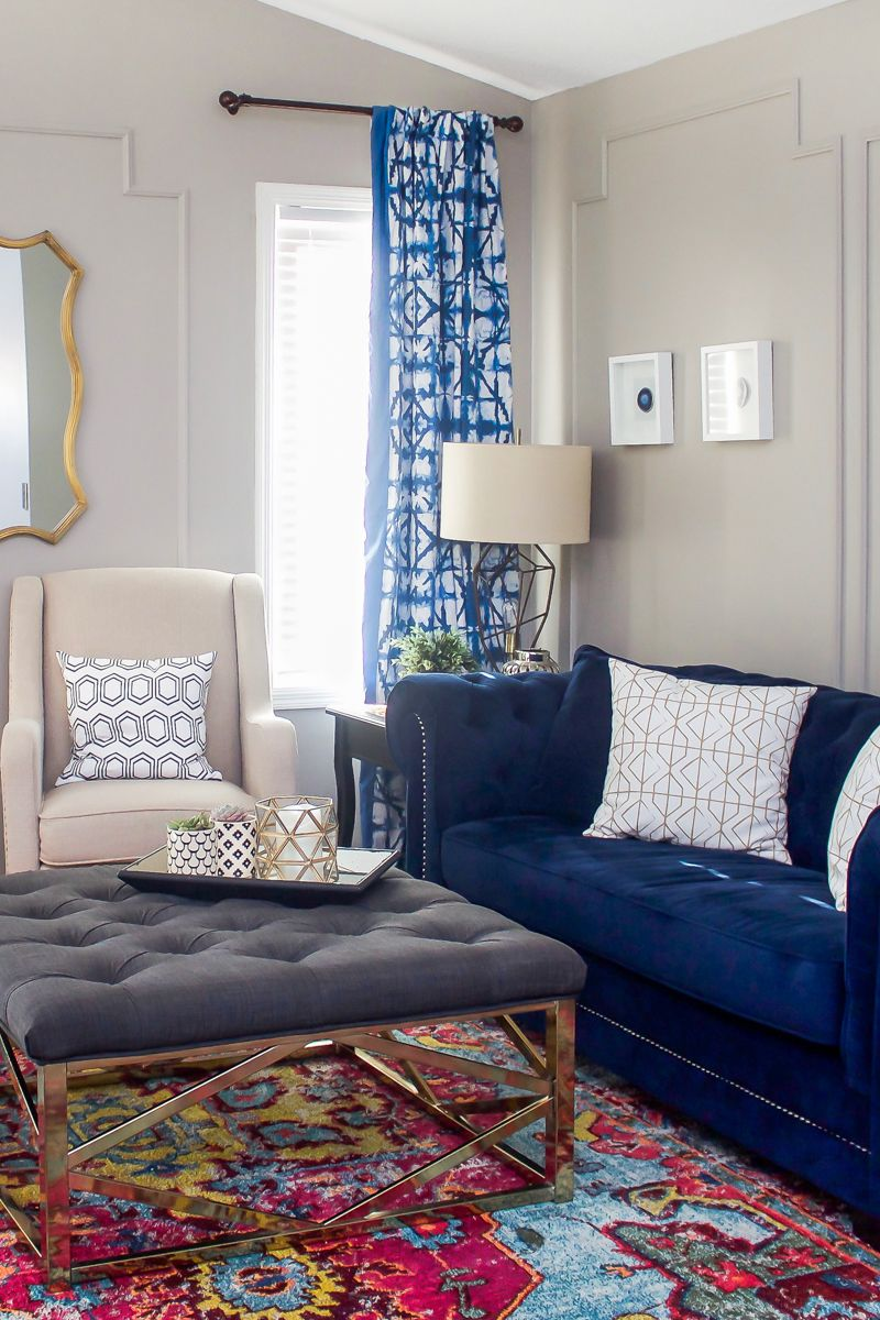 10+ Best Navy Living Room Curtains