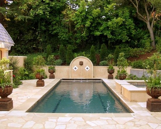 English Garden Swimming Pool Design Pictures Remodel Decor And