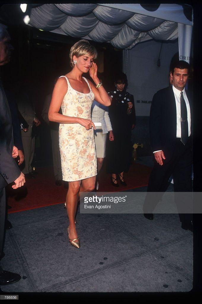 b9a88115d20 Princess Diana arrives for a pre-auction reception at Christie s June 23