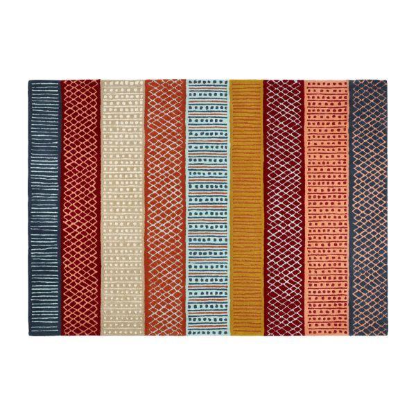 Alfombra tejida plana 120x180 multicolor