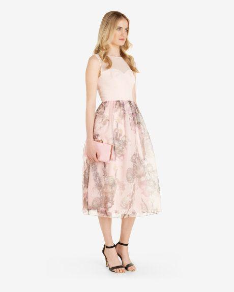 Torchlit Floral ballerina dress - Baby Pink | Dresses | Ted Baker ...
