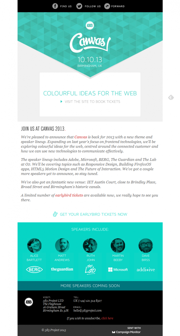 Beautiful email newsletters blog archive canvas for Beautiful newsletter design