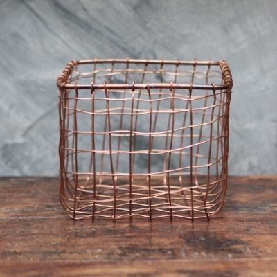 Wire storage basket - Copper