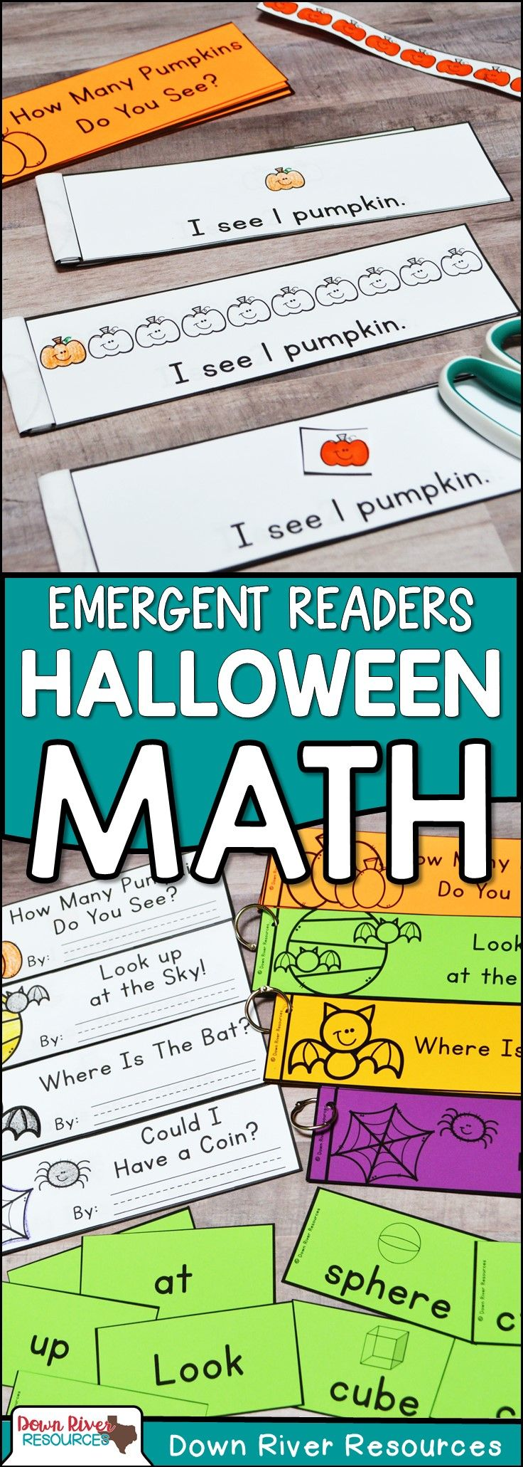 Halloween Math Emergent Readers {TEKS} | Sight Word Practice | Math ...