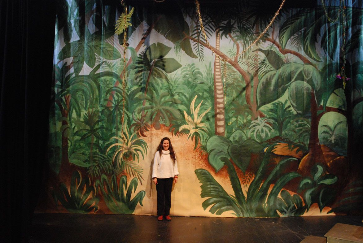 jungle book backdrops for school plays during the 1980s