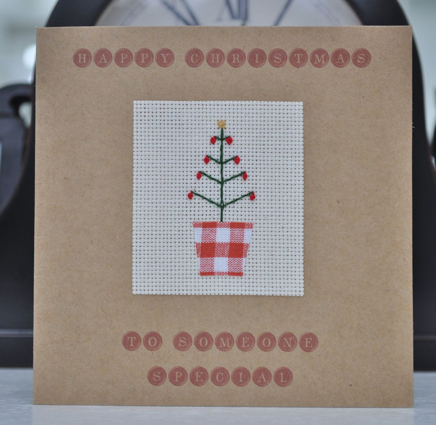 Handmade Christmas Card  Someone Special $600, Via Etsy