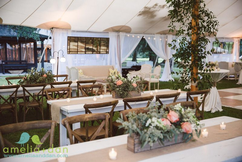 Sail Cloth Tent by Sperry Tents at Middleton Plantation. Photo by Amelia and Dan Photography. Florals, Design, and Production by Fox Events.