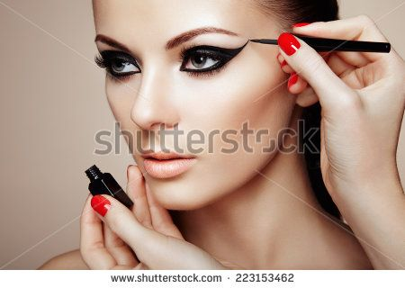 eye. Beautiful woman face.