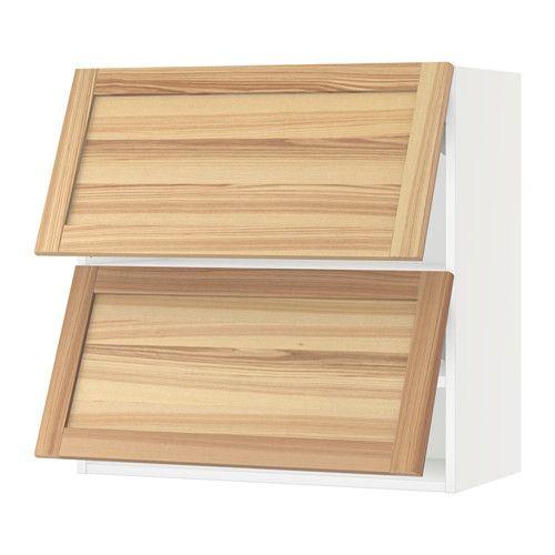 Sektion Horizontal Wall Cabinet W 2 Doors White Torhamn Natural Ash 30x15x30 Ikea Boys