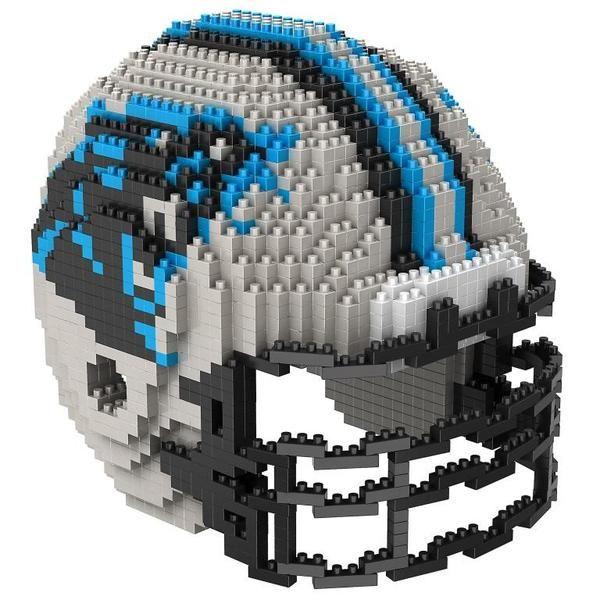 45801eb7d32 Carolina Panthers NFL 3D BRXLZ Puzzle Helmet Set. Contains apprx. 1400  pieces. The Finished Helmet Size is Approximately  4.45