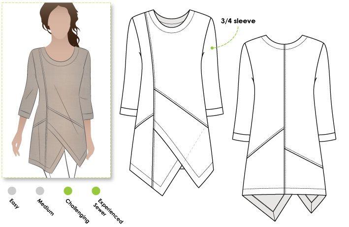 Pattern Reviews> StyleArc> Lani Woven Tunic | Kleding | Pinterest ...