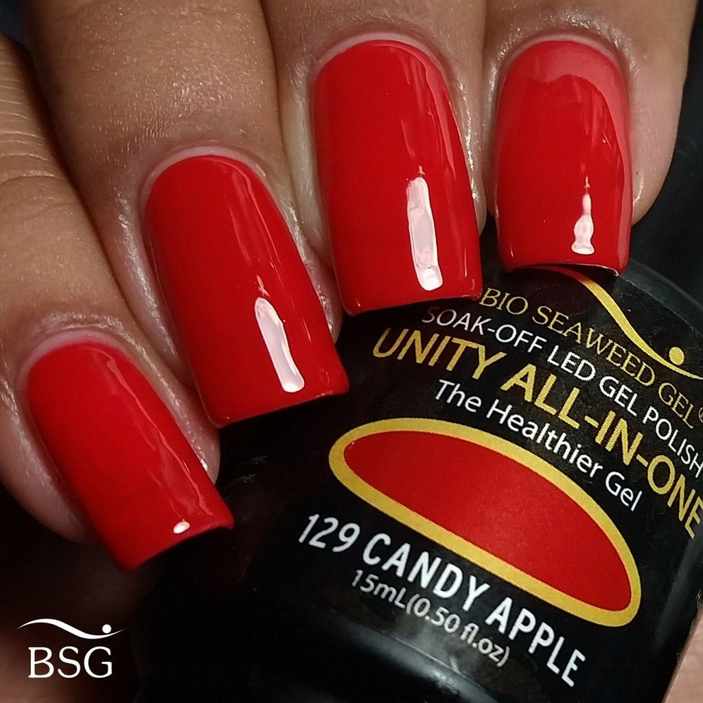 UNITY All-In-One Colour Gel Polish - 129 Candy Apple