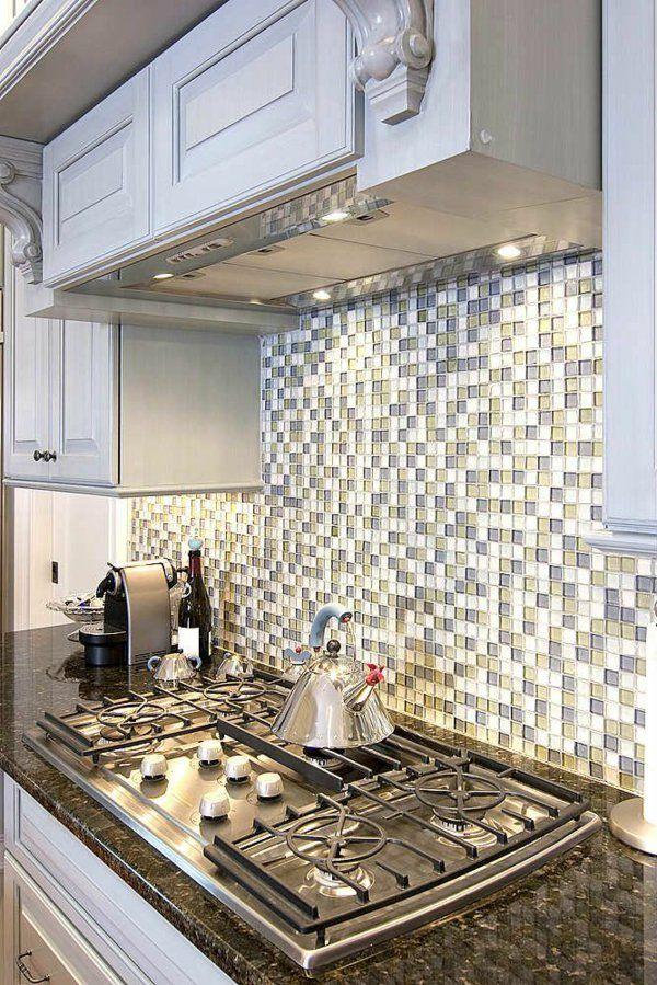 küche wohnungsgestaltung ideen küchenrückwand glasmosaik fliesen