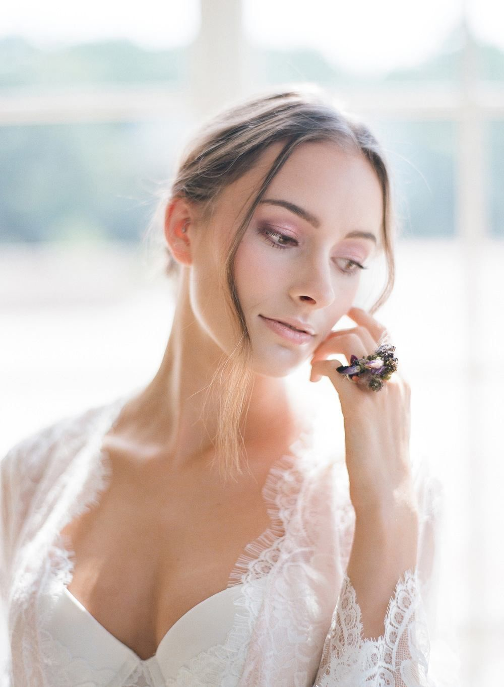 Feminine french bridal fashion shoot hair makeup pinterest