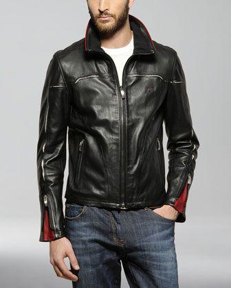 Ferrari Leather Jacket Leather Jacket Men Mens Leather Jacket Biker Leather Jacket Men Style