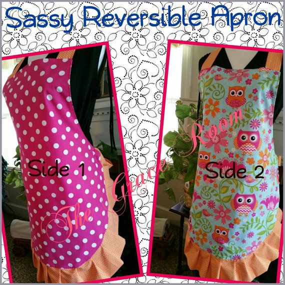 Sassy Reversible Apron with Ruffle