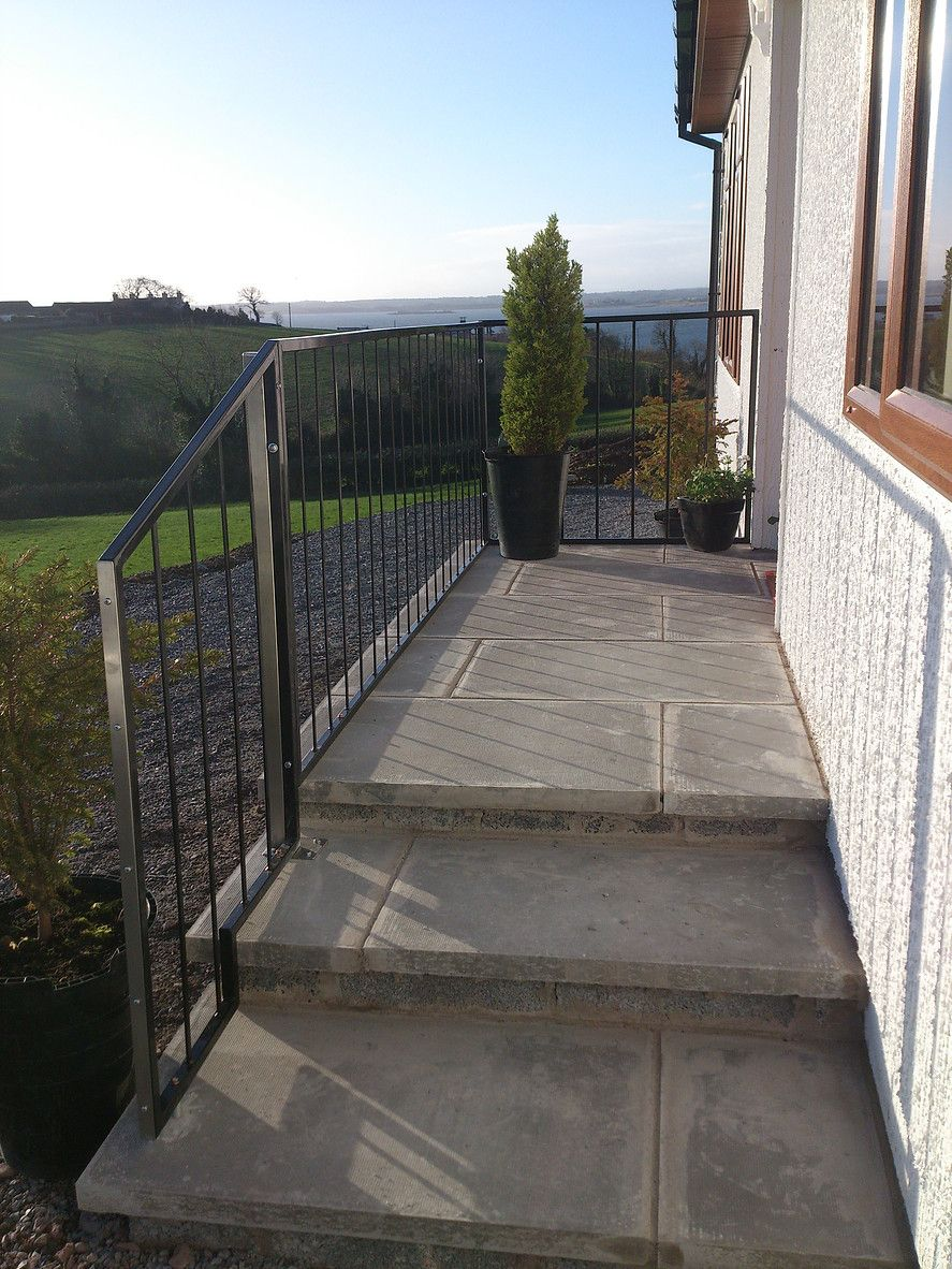 Best Custom Made Railings Exterior Sidewalk Fabric 400 x 300
