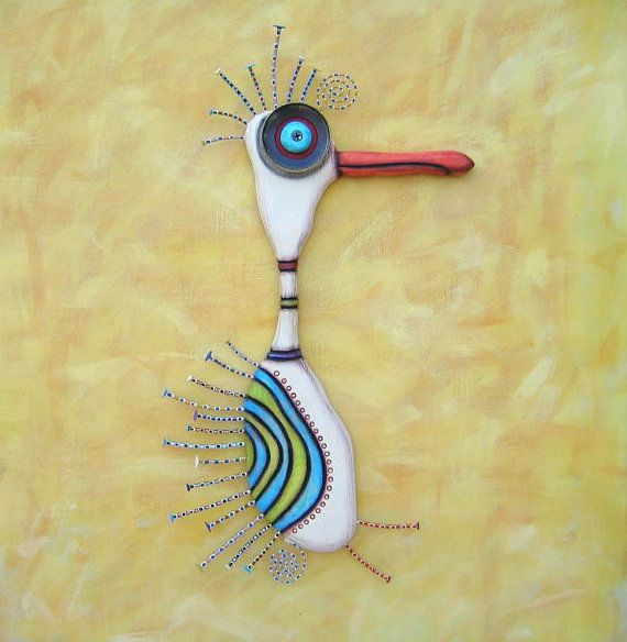 Doctor Crane, Original Found Object Sculpture, Wall Art, Wood ...