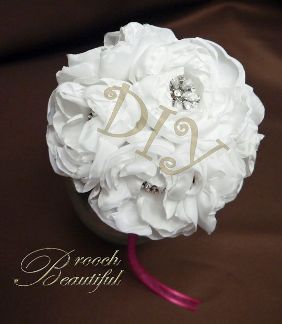 DIY KIT for Fabric Flower Peony Bouquets by BroochBeautiful, $40.00 ...