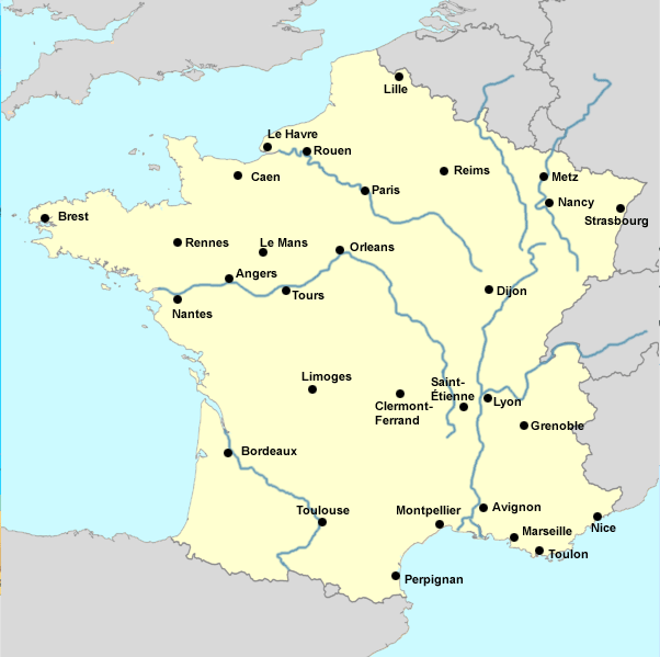 France Map Of Mountains